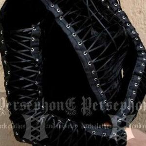 blusa de veludo preta